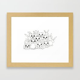 Bunny Bunch Framed Art Print