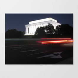 Lincoln Memorial Tail Lights Canvas Print