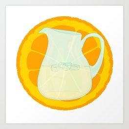 Cool Orangeade Art Print