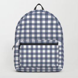 Plaid Gray Backpack