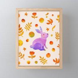 Abstraction_Rabbit_Wonderland_Floral_001 Framed Mini Art Print