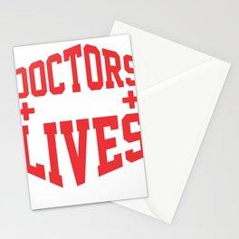 Doctors Save Lives Medical Professional Medicine Stationery Cards
