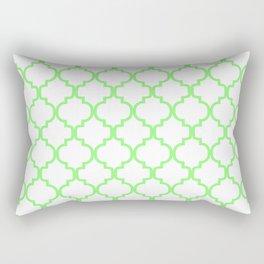 Moroccan Trellis (Light Green & White Pattern) Rectangular Pillow