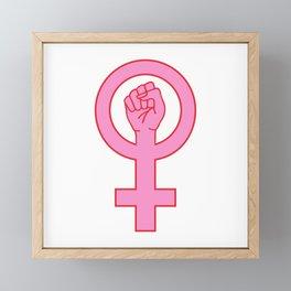 Female symbol figting hand Framed Mini Art Print
