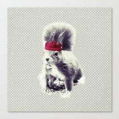 Squirrel & Bow Canvas Print