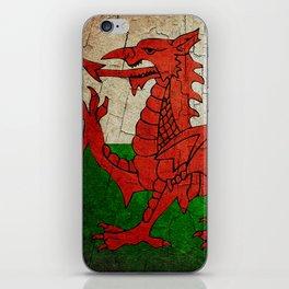 Vintage Wales flag iPhone Skin