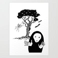 The tree that sees everything II - El árbol que todo lo ve II. Art Print