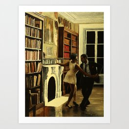 Lindy Hop in the Library Art Print