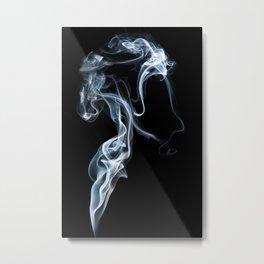 A Portrait In Smoke Metal Print