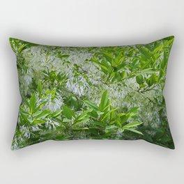White Fringe Tree Rectangular Pillow