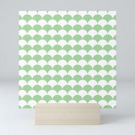 Mint Fan Shell Pattern Mini Art Print