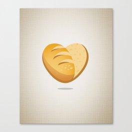 Loving bread Canvas Print