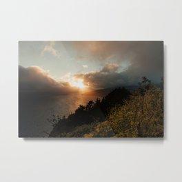 Pacific Sunset from Muir Beach Overlook Metal Print