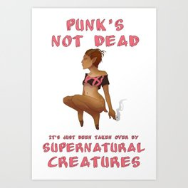 Punk Faun - Punk's Not Dead... Art Print