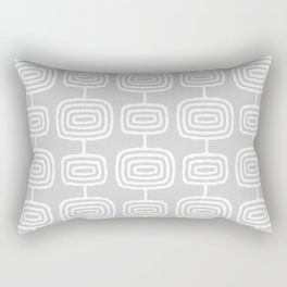 Mid Century Modern Atomic Rings Pattern 731 Gray Rectangular Pillow