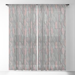 pastel floral Sheer Curtain
