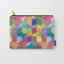 Spring Geometric Carry-All Pouch