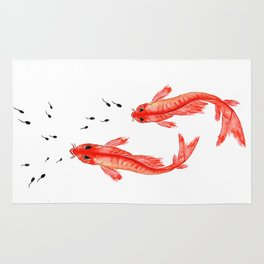 Curiosity. Fish and Tabpole Rug
