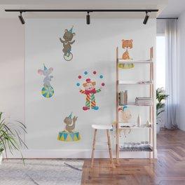 Circus Clown And Animals Wall Mural