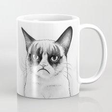 Grumpy Simmons Cat Whimsical Funny Animal Music Mug