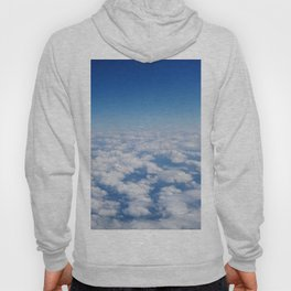 Blue Sky White Clouds Color Photography Hoody