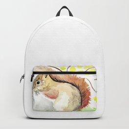 Brown Squirrel painting kids room Backpack