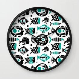 Deep Sea White Wall Clock