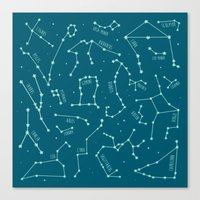 constellations Canvas Prints featuring Constellations by Ashley Hay