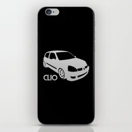 Renault Clio - silver - iPhone Skin