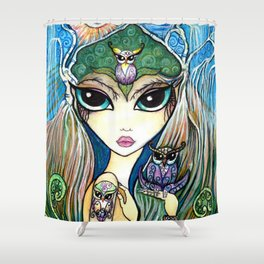 Owlette, The Owl Queen Shower Curtain