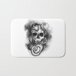 Skull and Octopus Together Forever by annmariescreations Bath Mat