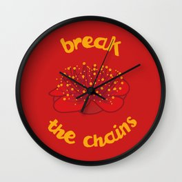 Break the chains Wall Clock