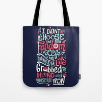fandom Tote Bags featuring Fandom Life by Risa Rodil