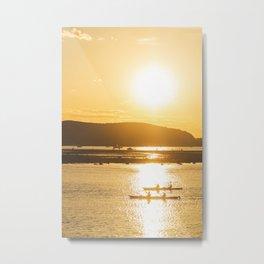 Sunset Ride Metal Print