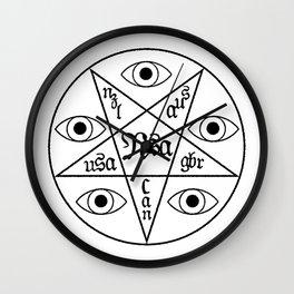 Five Eyes Wall Clock