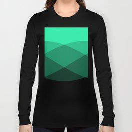 Light Green to Black Ombre Signal Long Sleeve T-shirt