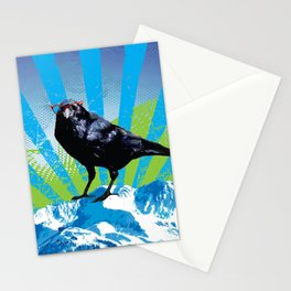 Raven on the Rise by Crow Creek Cool Stationery Cards