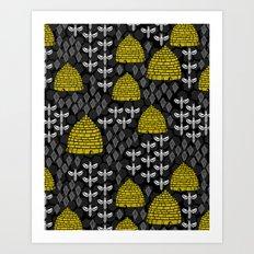 Honey Bees & Hives Art Print