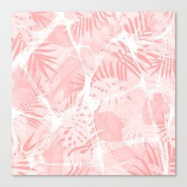 Abstract Soft Pink Tropical Design Canvas Print