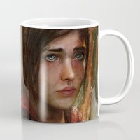 ellie goulding Mugs featuring Ellie by Nicole M Ales