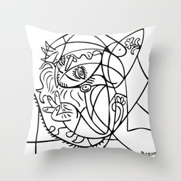 Woman with pillow (Jacqueline), 1969, Pablo Picasso, Posters, Prints, Tshirts, Bags, Men, Women, Kid Throw Pillow