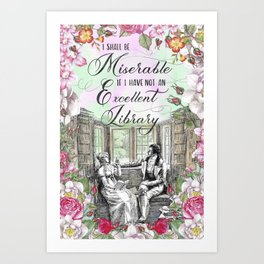Excellent Library - Pride and Prejudice Art Print