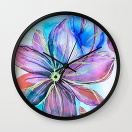 magical flower Wall Clock