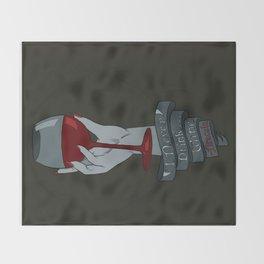 Draculas Wine Throw Blanket