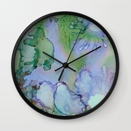Abstract Blue Birds Wall Clock
