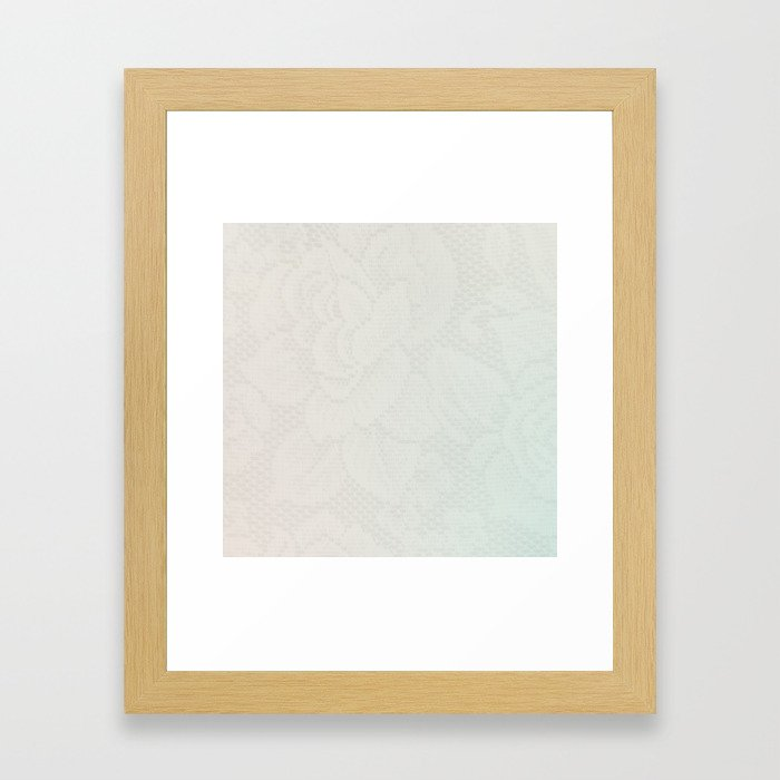 Pastel Lace Framed Art Print