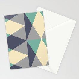 Mid Century Modern Geometric Pattern 444 Stationery Cards