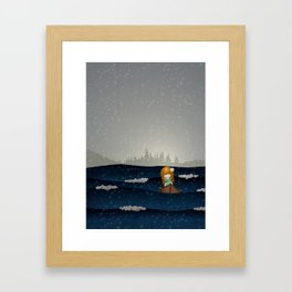 Cicily to The Sea Framed Art Print