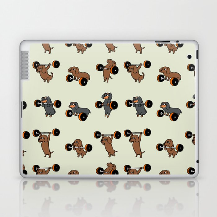 Olympic Lifting Dachshund Laptop & iPad Skin