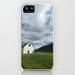 White Barn - Sun Valley, Idaho iPhone Case